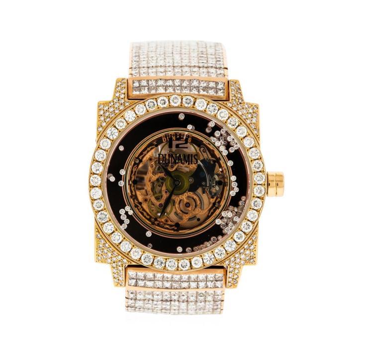 watch auction dunamis 18kt rose gold 52 00 ctw diamond men s dunamis 18kt rose gold 52 00 ctw diamond men s watch